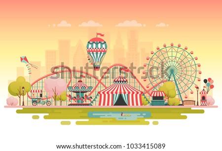 amusement park  urban landscape