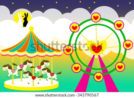 amusement park wedding backdrop