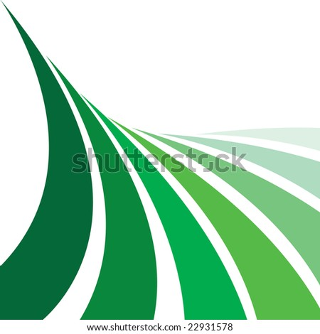 An abstract design layout that looks like farmland with rows of crops. This vector image makes a great background.