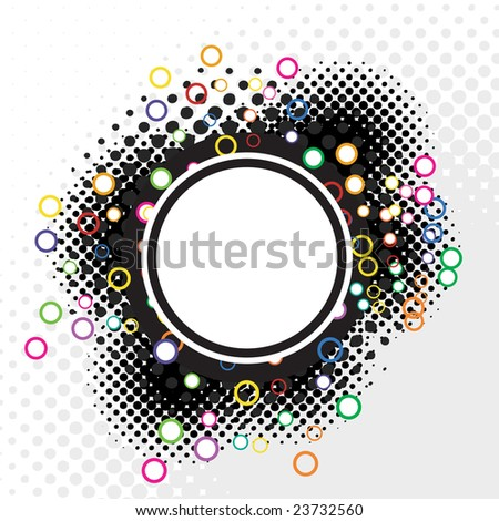 An abstract halftone badge - an excellent design element.  This vector is full customizable for the color or look you want. - stock vector