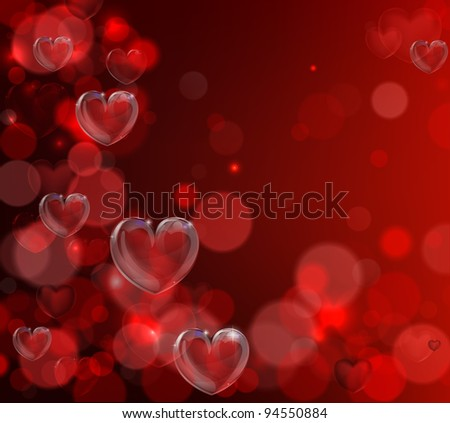 An abstract illustration for valentines day. Background with hearts illustration. - stock vector