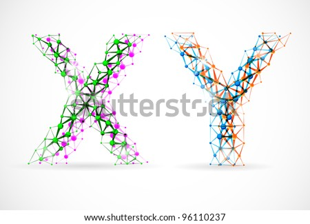 An abstract image of x and y chromosomes. Eps 10