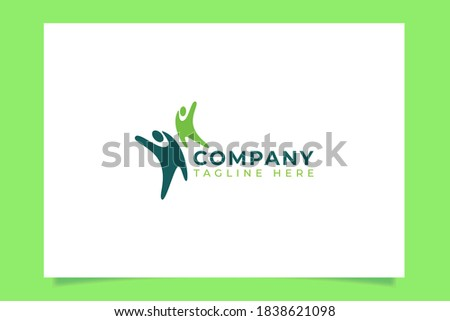 an abstract peoples logo vector graphic for any business ie. charity, medical, health, social, education, teamwork, community, etc. Imagine de stoc ©