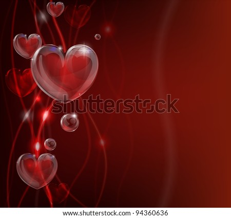 An abstract valentines day heart background illustration.