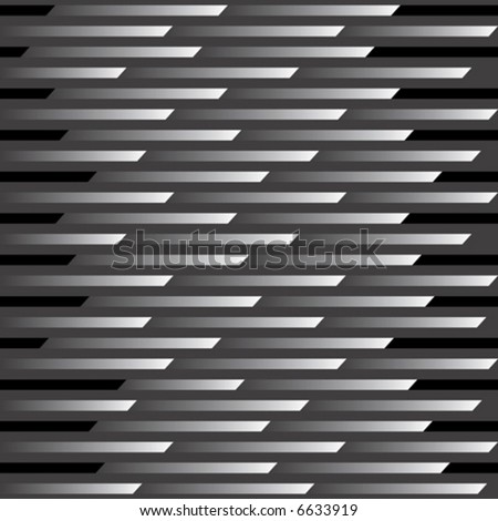 An abstract vector illustration of a seamless, repeating pattern representing motion and speed in black and gray.