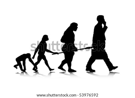 An abstract vector illustration of human evolution.