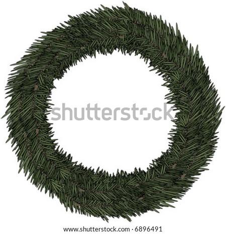 An Advent Wreath Vector Illustration - stock vector