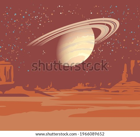 an alien planet landscape with