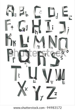 An Alphabet from my big font collection