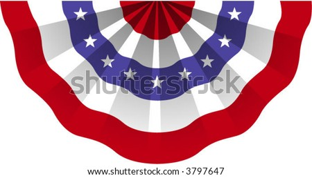 An American flag bunting - stock vector