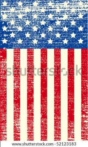 an american grunge flag for a