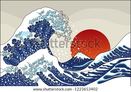 an ancient great japanese wave