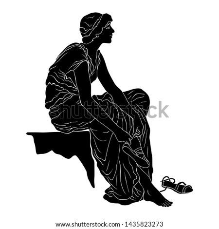 an ancient greek young woman