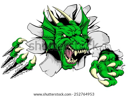 an attacking dragon with claws