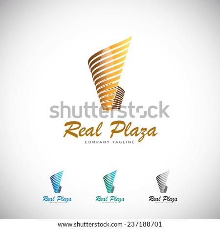 An attractive Plaza Modern Stylish vector logo symbol.