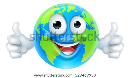 an earth cartoon character