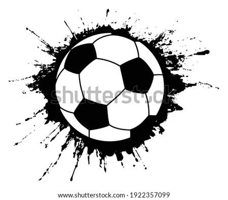 An editable vector illustration of soccer ball as splash