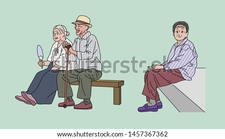an elderly asian man and woman