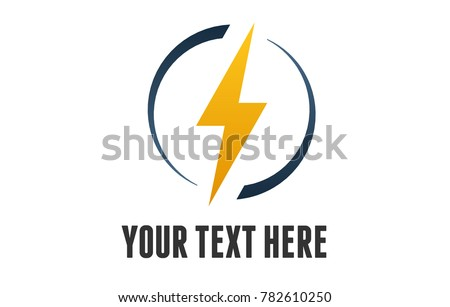 An Electricity Logo with a lightning bolt.
