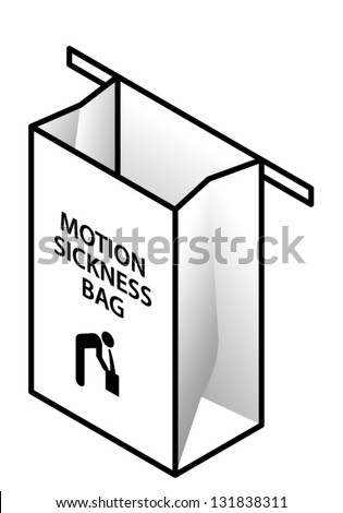 An empty motion sickness bag.