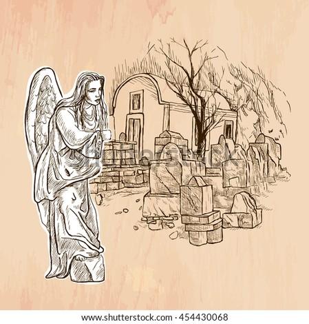 an hand drawn vector angel