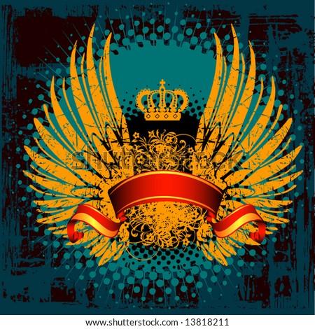 an heraldic shield or badge