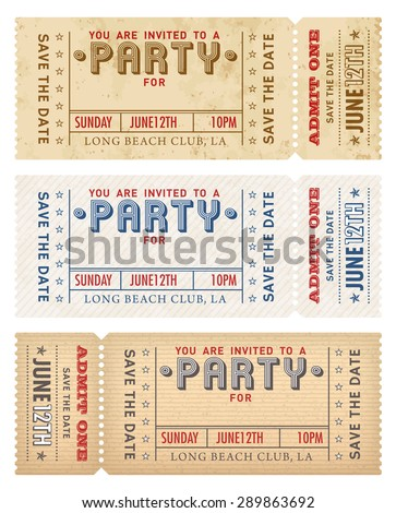 An high detail grunge vintage Invitation Template to a party or celebration.