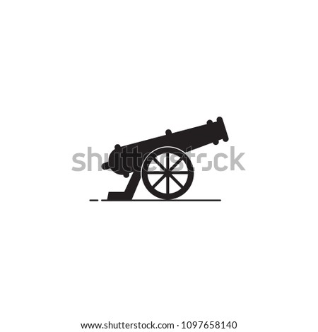 an icon about cannon with a simple concept