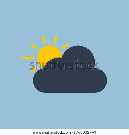 an icon of a dark cloud with