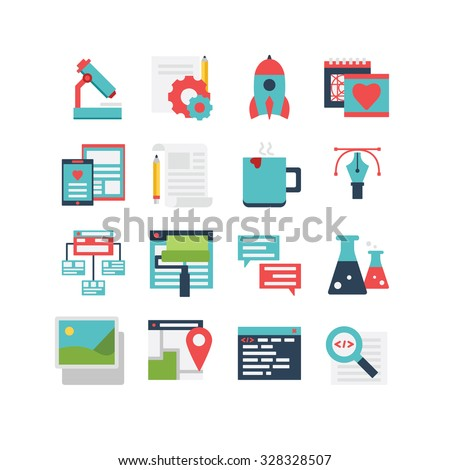 An icon set for web development and design, eps 10, no transparencies