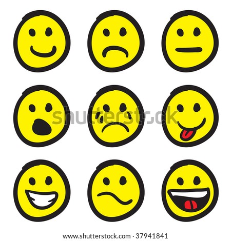 smiley face clip art. of cartoon smiley faces in