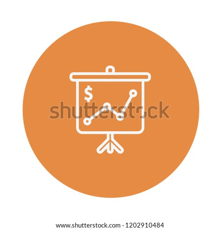 an icon vector of screen presentation about business project