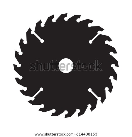 An iconic circular saw blade in vector format