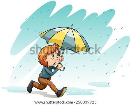 an idiom showing a heavy rain