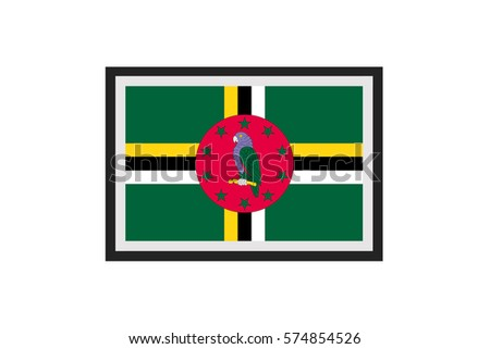 an illustrated country flag of