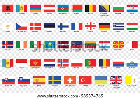 an illustrated country flags of