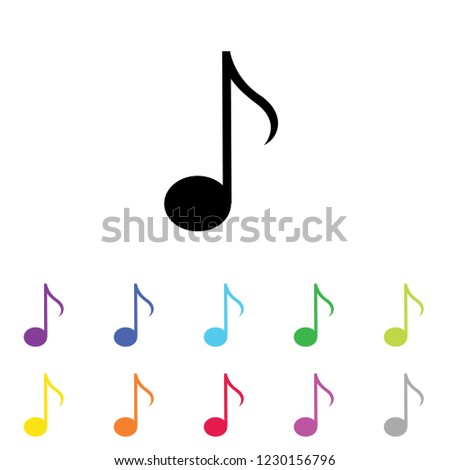 An Illustrated Icon in an array of colours on a White Background -  Quaver