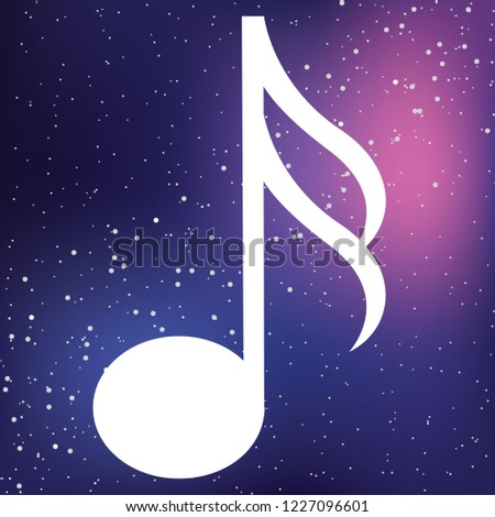 An Illustrated Icon Isolated on a Background - Semi Quaver