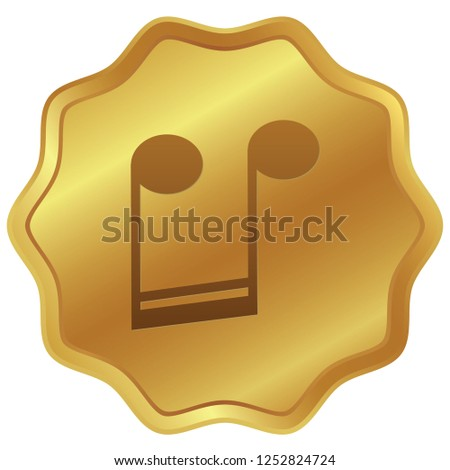An Illustrated Icon Isolated on a Background - Upside Down Semi Quavers