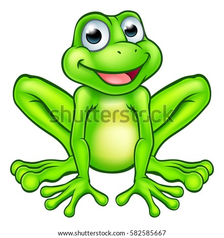 stock-vector-an-illustration-of-a-cute-cartoon-frog-mascot-character