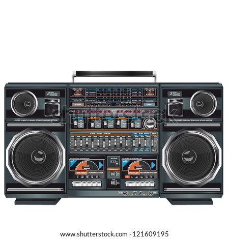 an illustration of a fantastic retro ghettoblaster
