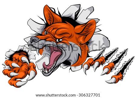 an illustration of a fox animal