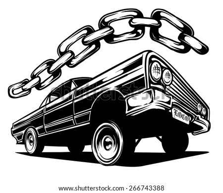 an illustration of a low rider