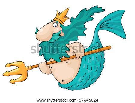 An illustration of a merman