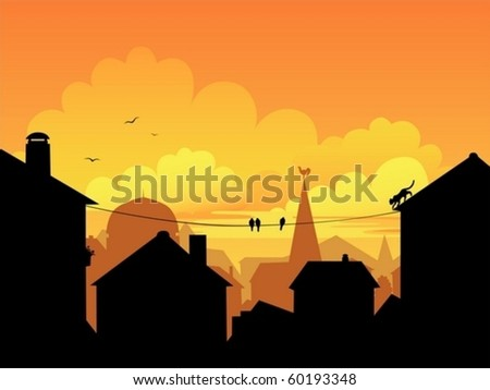 an illustration of a sunset