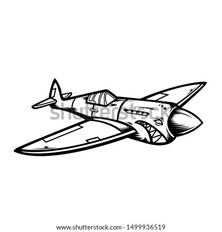 an illustration of a warplane