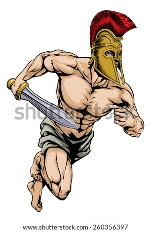 an illustration of a warrior or
