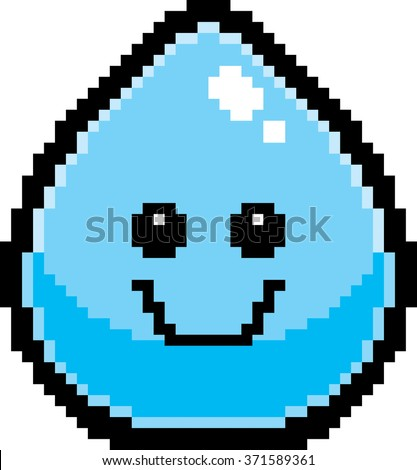 an illustration of a water drop