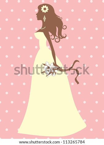 An illustration of an elegant bride silhouette
