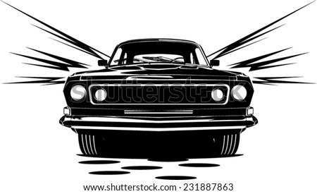 an illustration of classic car